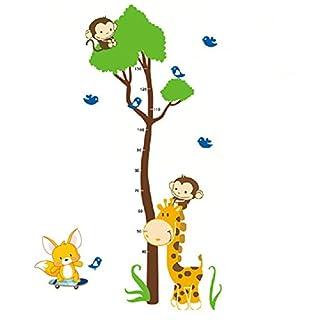 Aardvark Art AFFE Baum Growth Chart Giraffe Maßband Messlatte Wandtattoo Wandaufkleber Wandsticker Kinderzimmer Baby