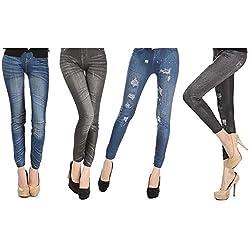 Pack de 4 Leggins jeans...