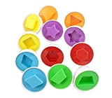 Set Of 12 Lovely Matching Eggs Shape/Col...