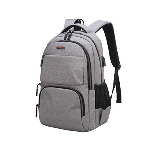 HF morning 16 Zoll Notebookrucksack Mit USB Laptop Backpack Wasserdicht Rucksack Groß Herren Schultasche