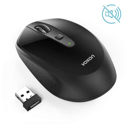 VOXON Omni 2.4G Silencioso Wireless Mouse óptico, Mini Ratón Inalámbrico Portátil con Receptor USB Nano, 4 Botones (3 dpi Ajustables 2000 dpi) para Laptop,PC,Ordenador,Chromebook,Notebook
