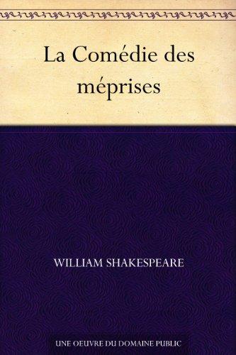 Couverture du livre La Comédie des méprises