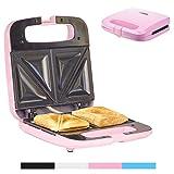 Sandwich Maker Breakfast Sandwich Toaster für 2 American Toasts   Antihaftbeschichtung Heizplatten   750 Watt   Thermostat
