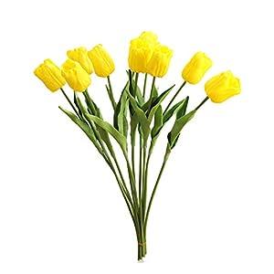 GFEU Tulipanes Artificiales Flores Ramo de látex decoración de Flores Falsas para la Boda Sala de Fiesta en casa…