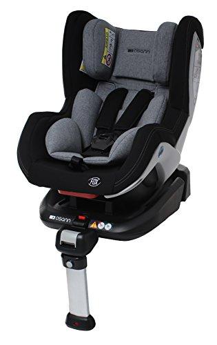 Osann 101-108-231 Reboard Kindersitz Fox Isofix - Gruppe 0+/1, 0-18 kg, 0 bis circa 4 Jahre, schwarz Melange