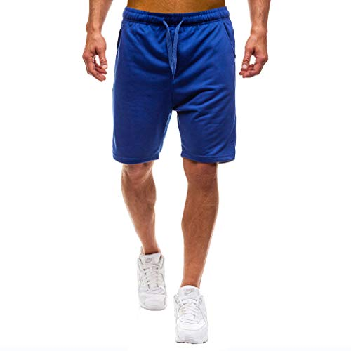 Zolimx- Bekleidung Herren Sweatshorts Sporthose Joggers Sommer Neue Taschen Strand Baumwolle Multi-Pocket Overalls Shorts Mode Hose Training Fitness Jogging Hose Kurze Hose