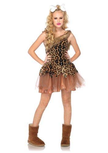 Leg Avenue J48071 - Kostüm Set Höhlen Mädchen, Größe S/M, braun (Kostüm Zubehör Halloween Höhle-mädchen)