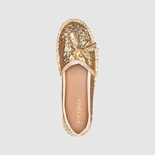 STUDIO espadrillas con paillettes giallo Color Oro