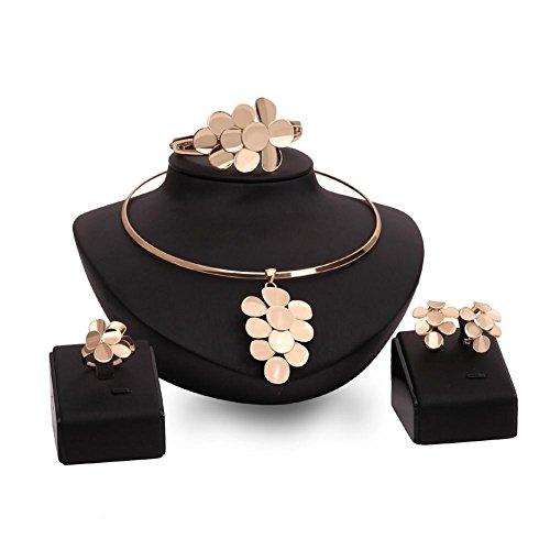 GYJUN Schmuck 1 Paar Ohrringe 1 Armreif Halsketten Ringe Strass Hochzeit Party Aleación 1 Set Damen Goldfarben Hochzeitsgeschenke , jewelry set