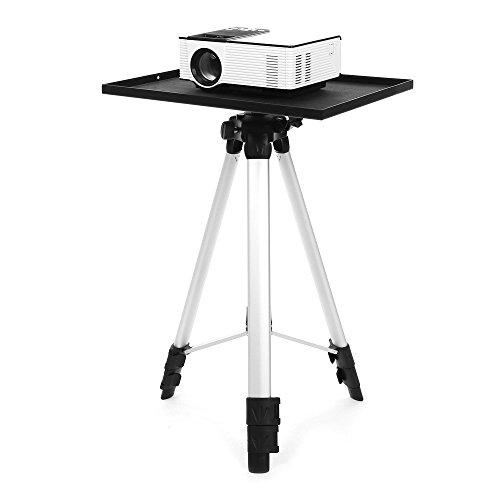 Joyhero Beamer Stativ Bodenständer Ständer für Projektor Heimkino Laptop Höheverstellbar 52 - 150cm Laptopständer Schwarz (Schraube Aus Schwarzem Deck-platte)