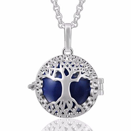 er Baum des Lebens Harmony Ball Anhänger Halskette Musik Glockenspiel Frauen Schmuck, schönes Geschenk, 30
