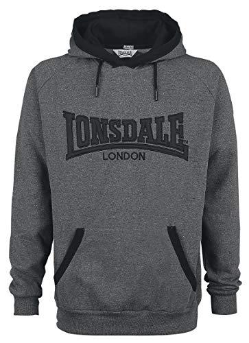 Lonsdale London Ashford Hill Sudadera con Capucha, Hombre, Marl Ash, X