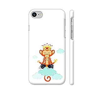 Colorpur iPhone 7 Cover - Om King Monkey Meditation In Clouds Printed Back Case