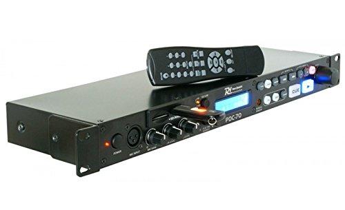 Profi Rack MP3 Controller Power Dynamics PDC70 USB/SD & Mikrofonsektion