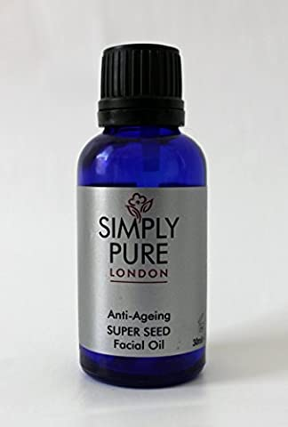 Simply Pure Super Seed Beauty Oil | Organic Beauty Oil | Moisturises Dry Skin | Cold Pressed | Chia | Borage | Sacha Inchi | Smooths Wrinkles For Younger Looking Skin | Anti Ageing Oil | Multi Use