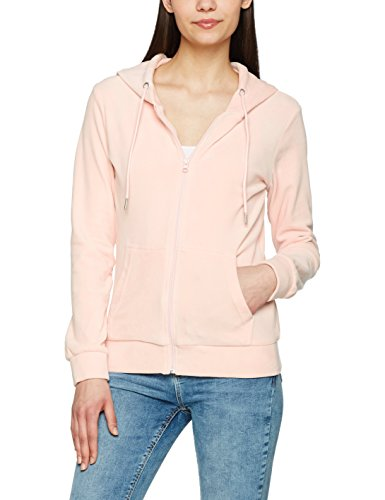 Urban Classics Femme - VELVET Zip Sweat à capuche pink Rose