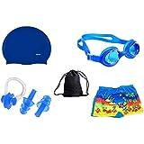 Body Maxx Swimming Kids Custome, Travel Bag, Goggles, Swim Cap, Ear Plugs