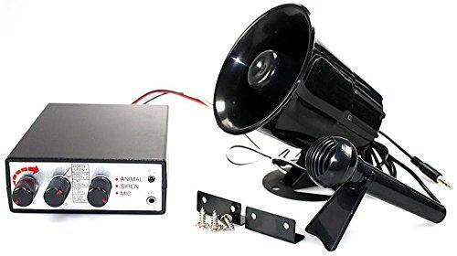 Vetrineinrete® Megafono con microfono e centralina per auto 12v kit sirena con effetti sonori suoni animali A34 - Megafono Auto