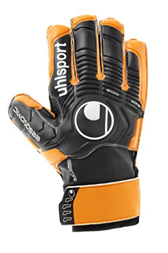 uhlsport, Guanti da portiere, Nero (Schwarz/Orange), 8