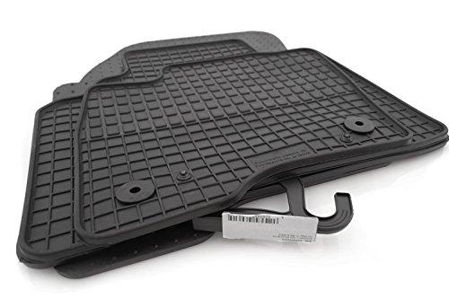 Original Qualität Gummi Fußmatten 4-teilig schwarz ()