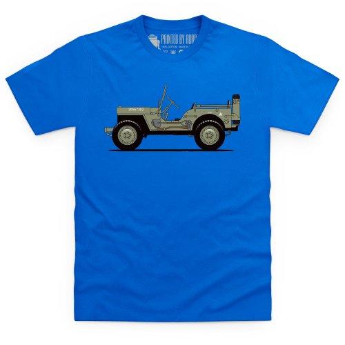 General Tee Willys MB T-Shirt, Herren Royalblau