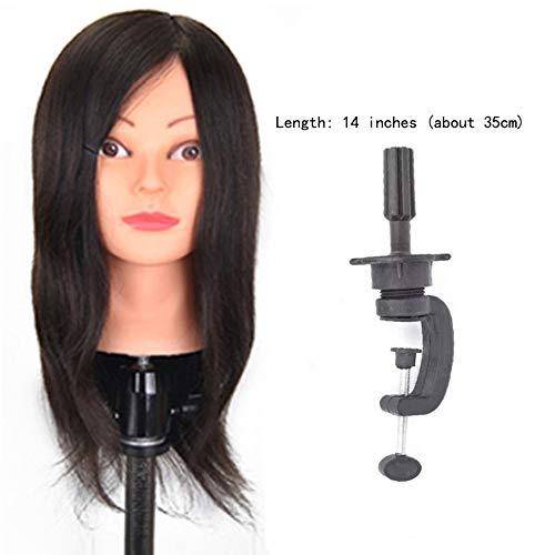 Real Hair Hair Virtueller Kopf Real Hair Modell Kopf Haarschnitt Bleichen Färben Heißes Blasen Modell Blasen Heiße Farbe Feine Form Verschiedene Größe Schwarz Braun