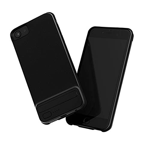 Battery Charger Case for iPhone 6/6s /7/8 JULYFOX Portable Charger 4.7 inch iPhone 7 3000mAh Extended Battery Pack Power Cases Metal Back Cover Black