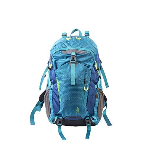 Xin.S40L Outdoor Bergsteigen Tasche Abgehängt Rücken Mit Regen Bedeckt Outdoor-Sport Tag Rucksack Markise Angeln Reit-Rucksack. Mehrfarbig,Blue-31*20*51cm (Blaue Markise Tag)