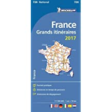 Carte France Grands Itinéraires 2017