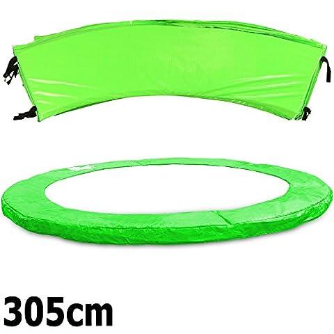 Premium Federabdeckung neongrün 183- 244- 305- 366- 396- 427- 457- 488 cm für Trampolin Randabdeckung PVC - UV beständig