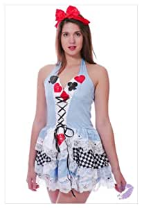 SEXY Alice In Wonderland Style Fancy Dress Costume Disney Hen Night Minnie Mouse-6