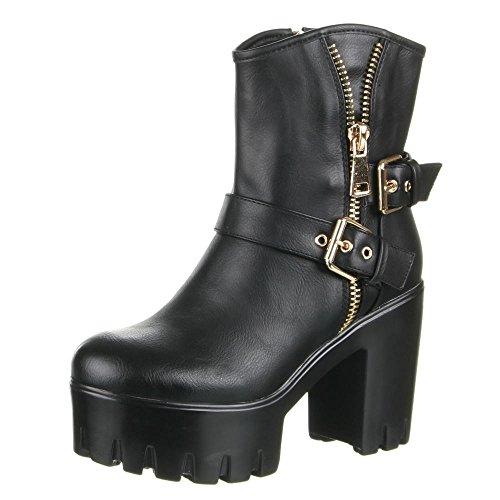 Damen Schuhe, JH16257, STIEFELETTEN