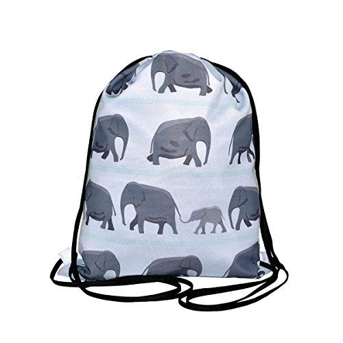 Manylooks. Mochila de Cordones Elefantes. 45x35cm.