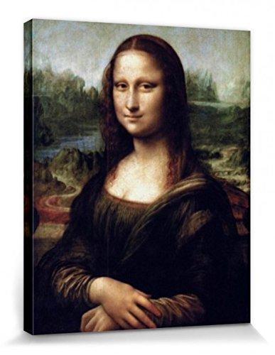 1art1 56425 Leonardo Da Vinci – Mona Lisa Poster Leinwandbild Auf Keilrahmen 50 x 40 cm