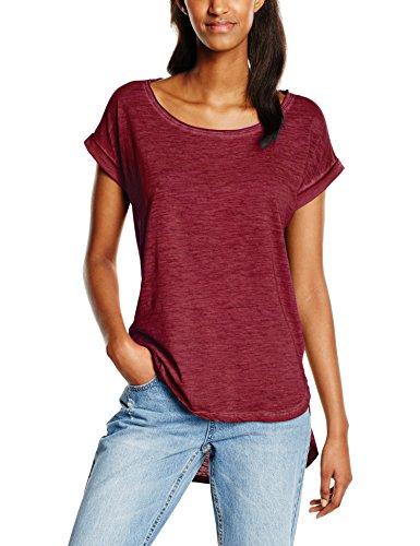 Urban Classics Damen T-Shirt Ladies Long Back Shaped Spray Dye Tee Rot (Burgundy 606), Large