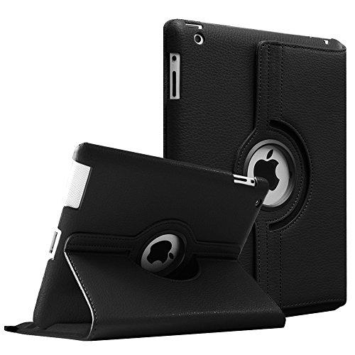 Fintie Hülle für iPad 2 / iPad 3/ iPad 4-360 Grad rotierende Schutzhülle mit Standfunktion Cover Case mit Auto Schlaf/Wach Funktion für Apple iPad 2,iPad 3 & iPad 4th Generation, Schwarz