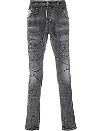 Philipp Plein Hombre MDT1071PDE001N10NO Gris Algodon Jeans