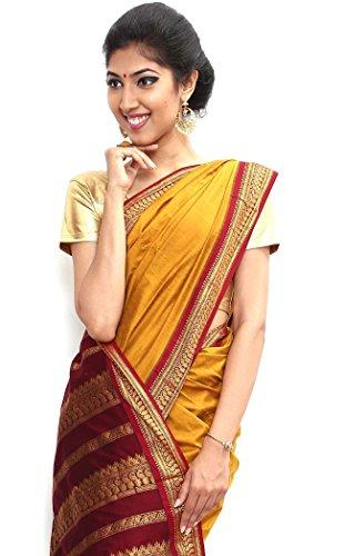 South karantaka Span cotton silk saree-Yellow-SBTI2-VQ-Art Silk