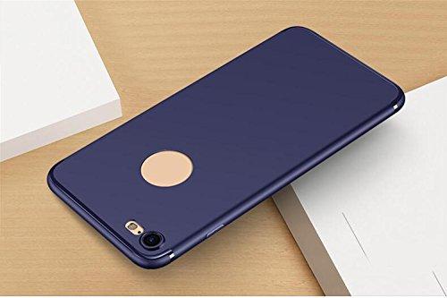 WYHYDCG 2 Stück, Ultra-dünne Matte TPU Anti-Rutsch-Gummi-Abdeckung, schützende Shockproof Gel Handy-Fall, schlanke robuste Rückenprotektor Stoßstange für Apple iPhone , Blue