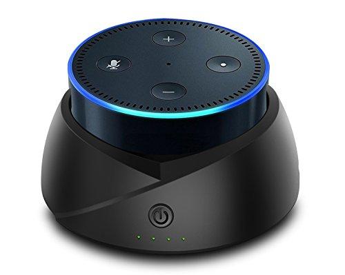 Akku für ECHO Dot (zweiter Generation), intelligente Tragbarer Akku Boden für Echo Dot 2(kein Echo Dot)
