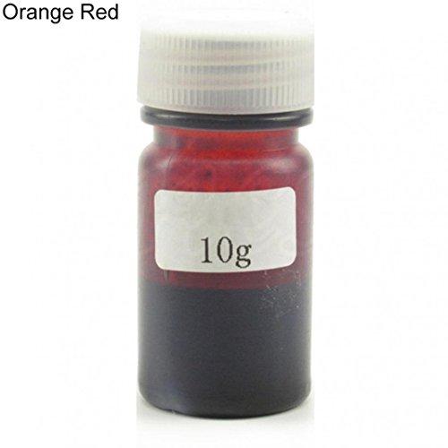 zhouba 10g Epoxy UV Resin Harz Dye COLORANT Kunstharz Pigment Mix Farbe DIY Craft 1 Stpck Orange/Rot (Epoxid-harz-pulver)