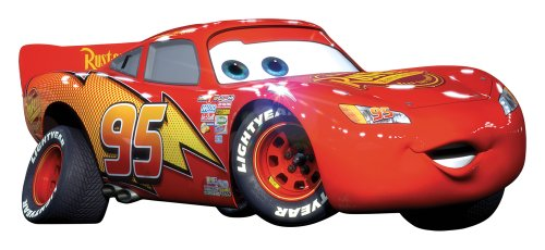 roommates-539034-moderne-sticker-gant-repositionnable-disney-cars-flash-mc-queen-vinyle-adhsif-rouge