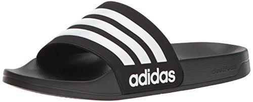 adidas Originals - Adilette Shower da Uomo, Nero (Black/White/Black), 36.5 D (M) EU