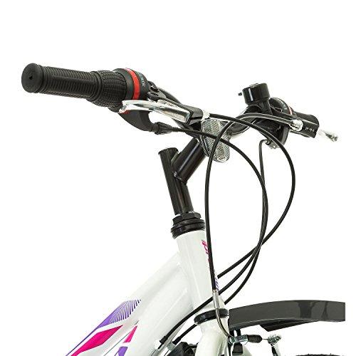 41quQ4ORXVL. SS500  - Multibrand, PROBIKE ADVENTURE, 24 inch, 290 mm, Mountain Bike, 18 speed, Mudgard Set, For Women, Kids, Juniors, White