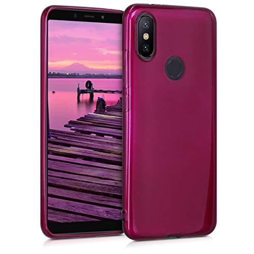 kwmobile Xiaomi Mi 6X / Mi A2 Hülle - Handyhülle für Xiaomi Mi 6X / Mi A2 - Handy Case in Hochglanz Violett