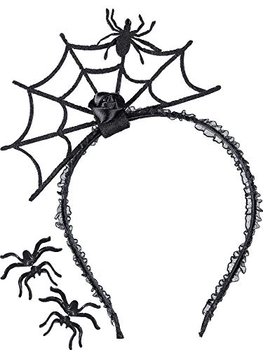 3 Pieces Halloween Spider Earrings Studs Web Headband for Party Supplies