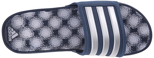 Adidas Performance Adissage 2,0 Stripes Athletic Sandalo Blue/Metallic Silver/Blue