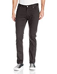 French Connection Mens 5 Pocket Trouser Pant, Black Reg, 28