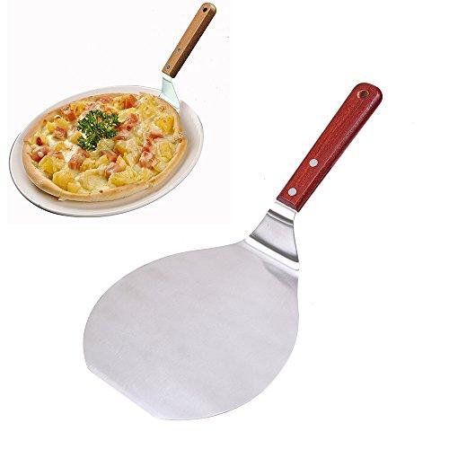 Pizza Peel WCIC Pelle à pizza en acier inoxydable avec manche en bois