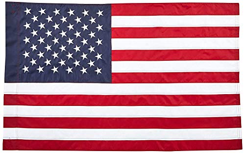 CHKWYN Home Accents Double Applique Flag, American Flag, Large for Party Outdoor Home Decor Size: 12.5-inches W X 18-inches H Side Drape Applique